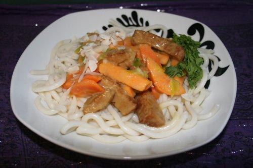 pasta med krispiga grönsaker