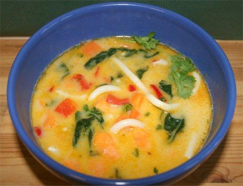 soppa röda linser kokosmjölk